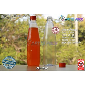 Botol plastik minuman 630ml ABC tutup segel orange (PET1958)