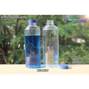 From 500 ml almond plastic bottle blue seal cap (PET1294) 0