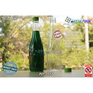 Botol plastik minuman 630ml angsa tutup segel hijau (PET2027)