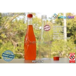 Botol plastik minuman 630ml angsa tutup segel orange (PET2024)