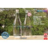 Botol plastik minuman 1 liter angsa tutup segel natural (PET2067)  1