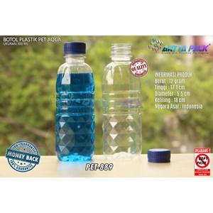 Dari Botol plastik PET 300ml aqua tutup biru segel (PET889) 0