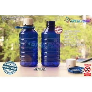 Dari Botol plastik PET 1 liter PS biru tutup segel (PET1288) 0