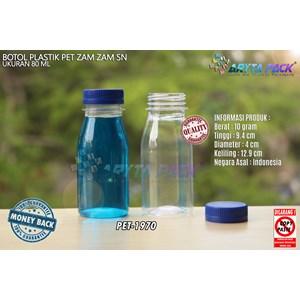 Dari Botol plastik PET 80ml zam-zam tutup pendek segel biru (PET1970) 0
