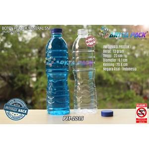 Dari Botol plastik PET 600ml aqua tutup segel pendek biru (PET2035) 0