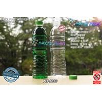Botol plastik PET 600ml aqua tutup segel pendek hijau (PET2030)