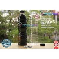 Botol plastik PET 600ml aqua tutup segel pendek hitam (PET2036)