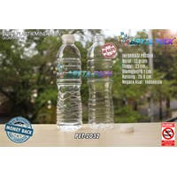 Botol plastik PET 600ml aqua tutup segel pendek natural (PET2032)
