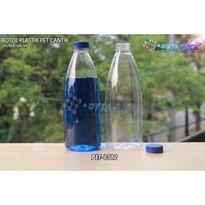 Dari Botol plastik minuman 600ml pet cantik tutup segel pendek biru (PET1312) 0