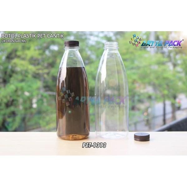 600ml pet beverage plastic bottle beautiful brown short seal cap (PET1313)