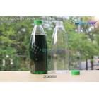 Botol plastik minuman 600ml pet cantik tutup segel pendek hijau (PET1316) 1
