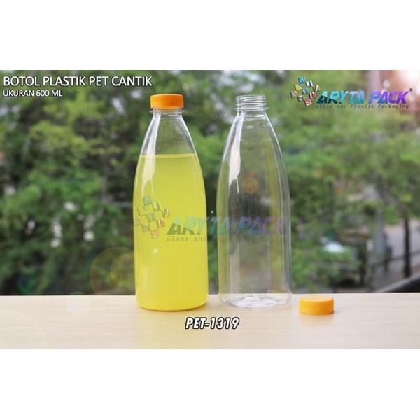 600ml pet beverage plastic bottle beautiful yellow short seal cap (PET1319)