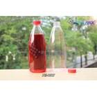 Botol plastik minuman 600ml pet cantik tutup segel pendek merah (PET1317) 1