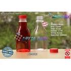 Botol plastik minuman 250ml pear tutup segel pendek merah (PET2082) 1