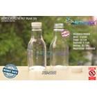 Botol plastik minuman 250ml pear tutup segel pendek natural (PET2101) 1