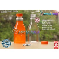 250ml pear lid seal orange plastic beverage bottl