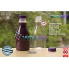 Botol plastik minuman 250ml pear tutup segel pendek ungu (PET2102) 1