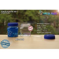 100ml PET plastic jar TKP-1 blue lid (PET2136)