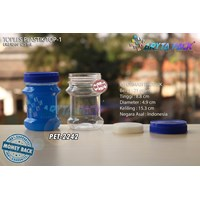 125ml top-1 blue lid pet plastic jar (PET2242)