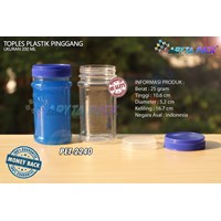 PET plastic jar 200 ml blue lid waist (PET2240)