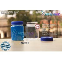200 ml PET plastic jar blue jam round lid (PET2141