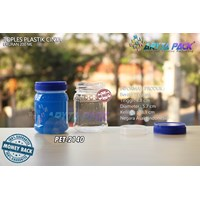 PET2140. PET plastic 200 ml jar jam love cover blu