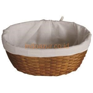 Anyaman Bambu Keranjang Roti Dengan Cover Kain
