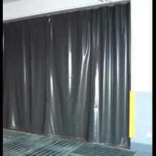 Tirai Plastik PVC Curtain Blue PVCCBk22050