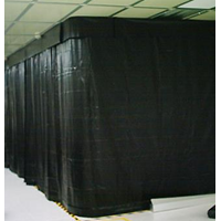 Tirai Plastik PVC Curtain Black PVCCBk220Pot