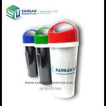 Tumbler Plastik Warna Gagang - Gelas Promosi