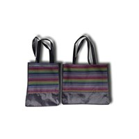 Jual Goodie Bag Stripe Eco (Black)