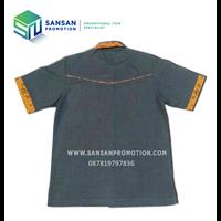 Distributor Kemeja Lengan Pendek Kombinasi List Batik 3