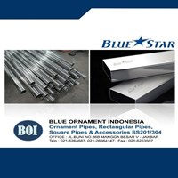 Jual Pipa Ornamen Stainless 201 dan 304 Blue Star 2