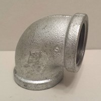 GALVANISED MALLEABLE IRON FXF 90° ELBOW