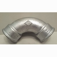 GALVANISED MALLEABLE IRON FXF SHORT BEND