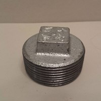 GALVANISED MALLEABLE IRON SOLID PLUG