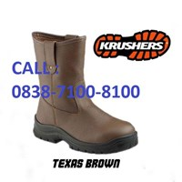 SEPATU SAFETY  KRUSHER TEXAS BROWN