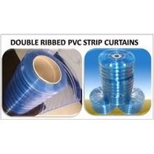 Tirai Plastik Curtain Bertulang Bening Natural