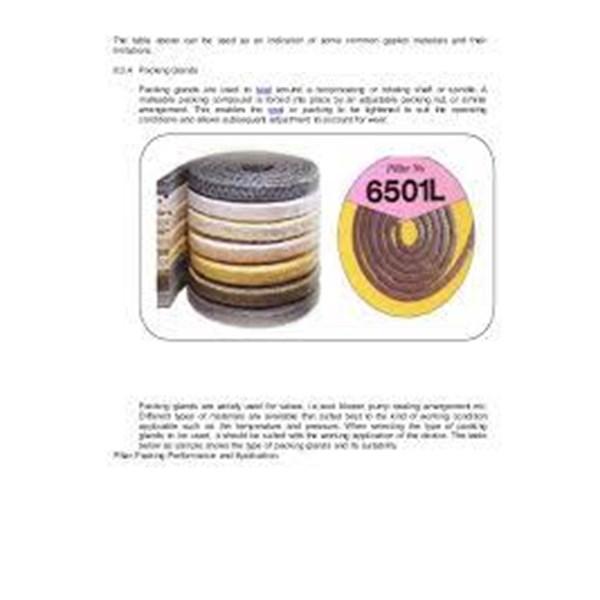 GLAND PACKING PILLAR NO 6501L