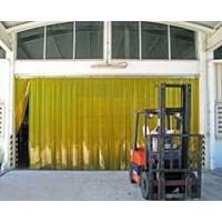 PVC Strip Curtain Yellow pondok indah
