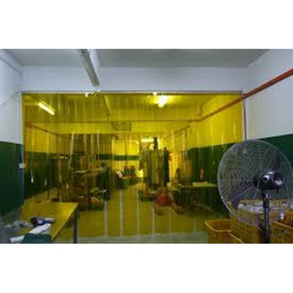 PVC STRIP CURTAIN ( YELLOW Medan Kota Tirai )