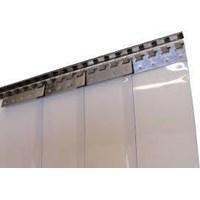 Jual Tirai Plastik  PVC Strip Padang Blue Clear