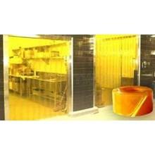 TIRAI PLASTIK Curtain Yellow ( Kuning PVC )