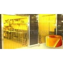 Tirai Curtain PVC Kuning Transparan