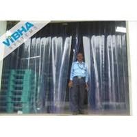 Distributor Tirai Plastik Curtain Blue Clear Riau Pekanbaru 3