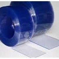 Jual Tirai Plastik Curtain Blue Clear Riau Pekanbaru 2