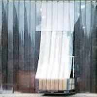 Tirai Plastik Curtain Blue Clear Riau Pekanbaru