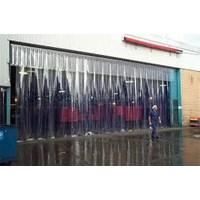 Jual Tirai Plastik Curtain Strip Blue Clear  2