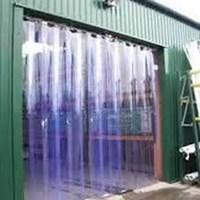 Distributor Tirai Plastik Curtain Strip Blue Clear  3