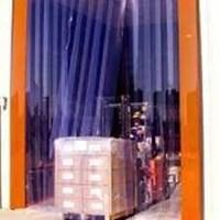 Tirai Plastik Curtain Strip Blue Clear  1
